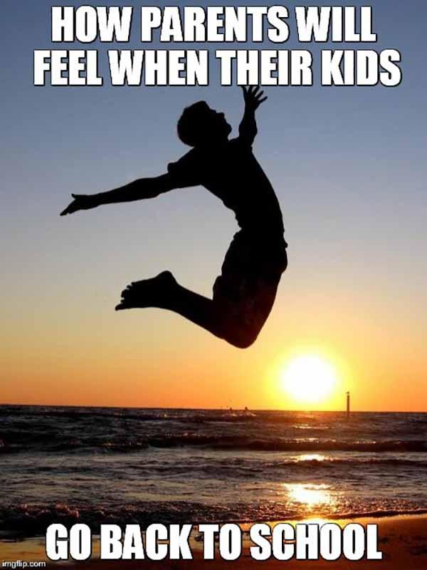 happy parents back to school meme