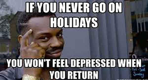 holiday depression meme