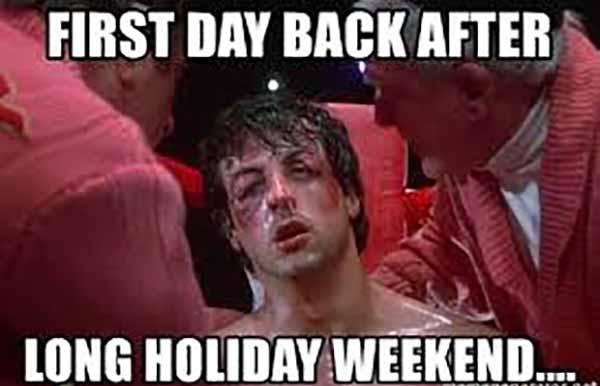 holiday weekend meme