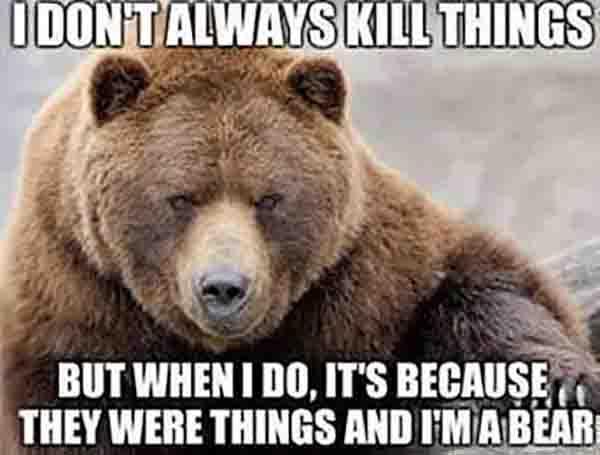 i dont always kill things... mama bear