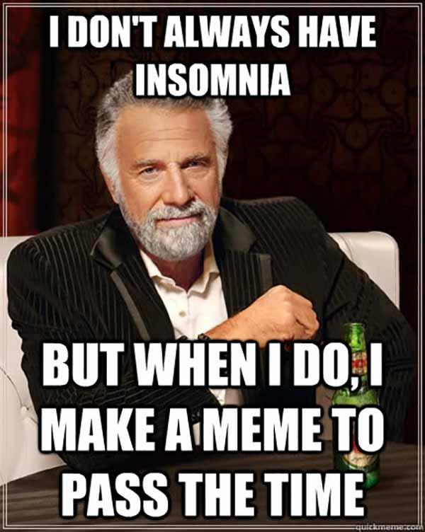 i don't have insomnia, i have internet meme