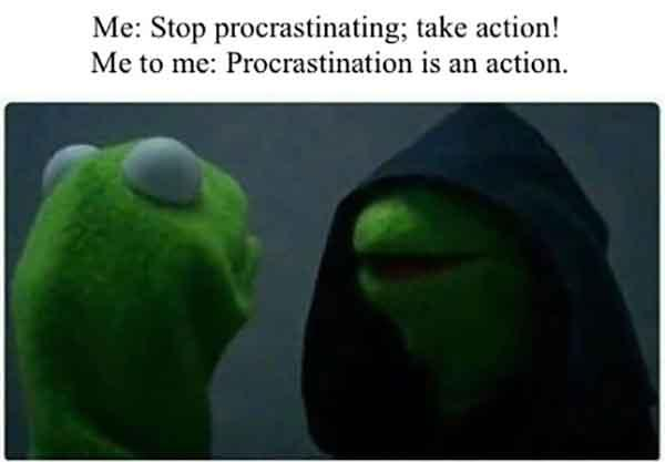 kermit meme procrastination