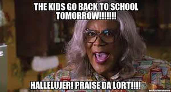 kids go back to school meme