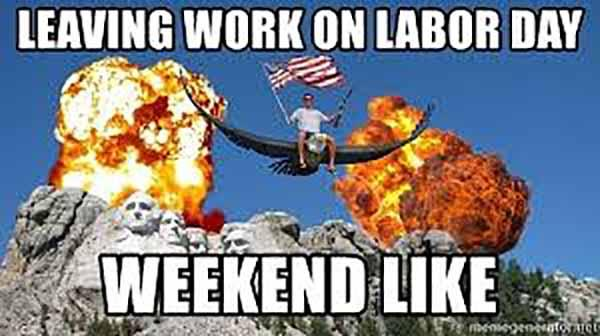 labor day weekend meme
