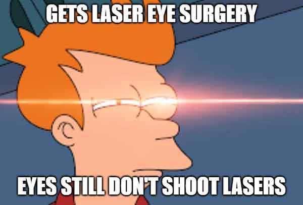 laser eyes meme