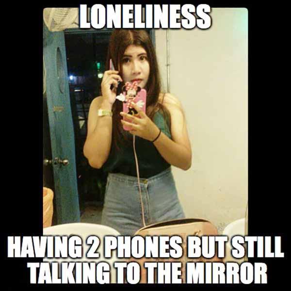 lonely girl meme