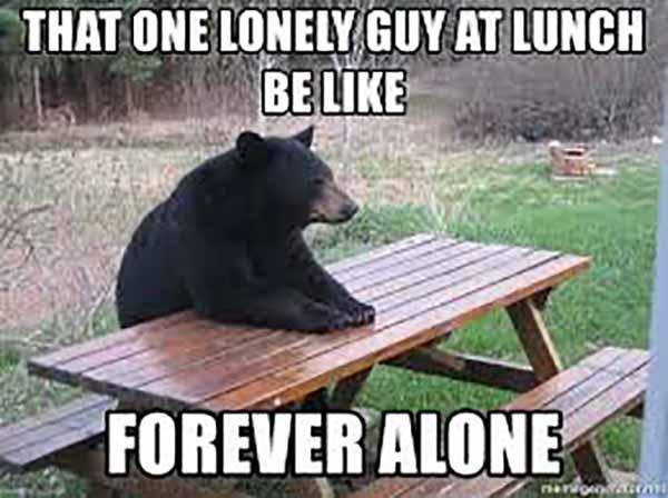 lonely guy meme