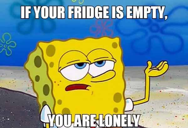 lonely spongebob meme