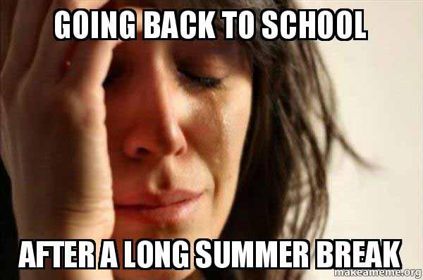 meme about going back to school