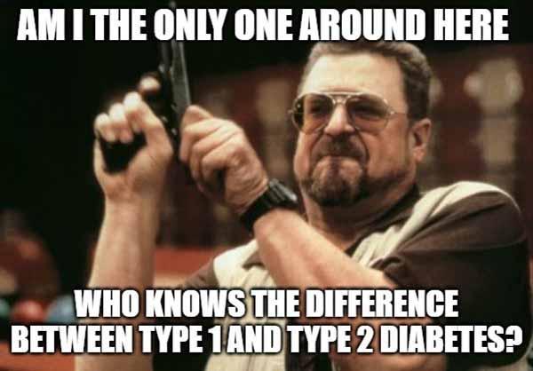 meme type 1 vs type 2 diabetes
