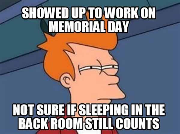 memorial day weekend meme