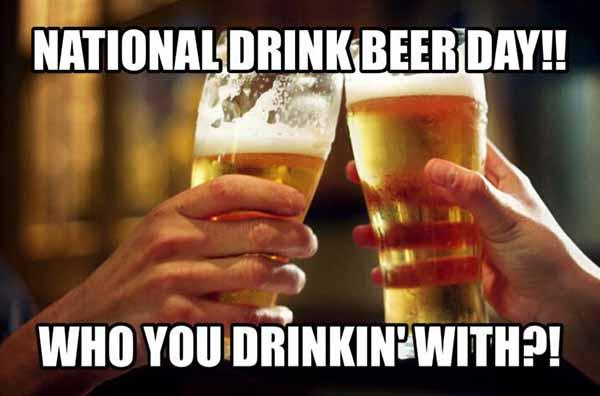national beer day meme