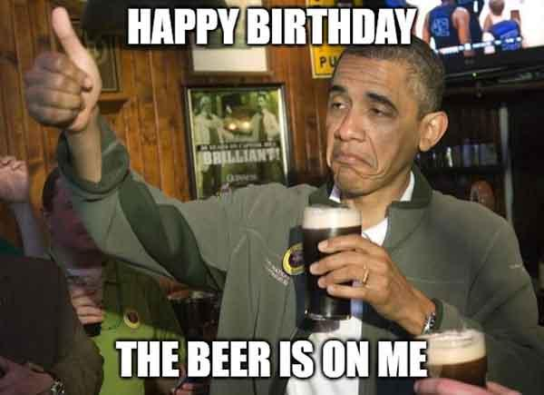 obama beer birthday meme