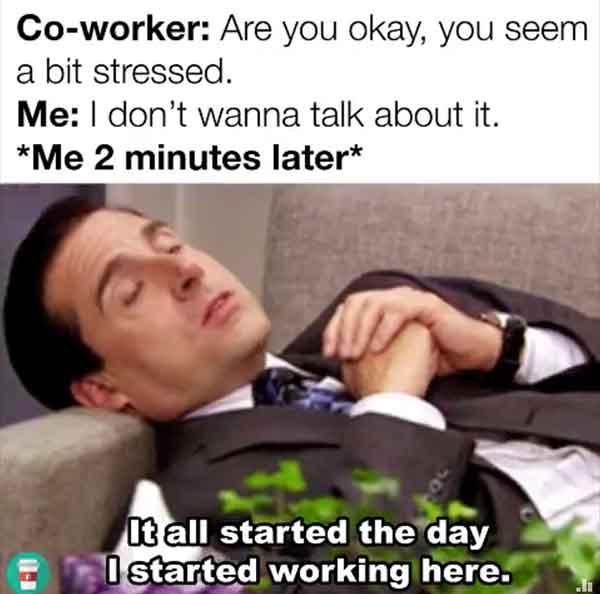 office stress meme