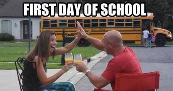 parents back to school meme
