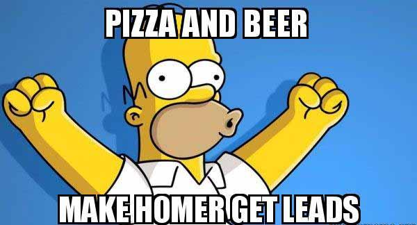pizza and beer meme