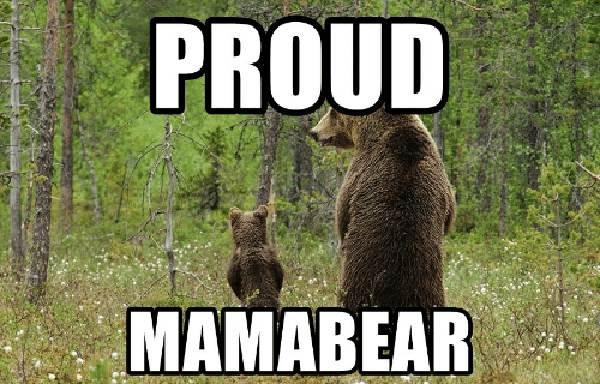 proud mama bear