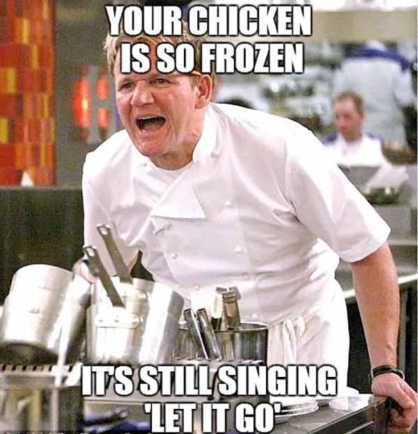 raw chicken meme