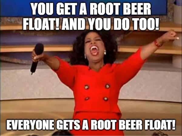 root beer float meme