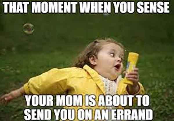 running errands meme