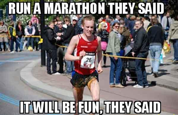 running is fun meme