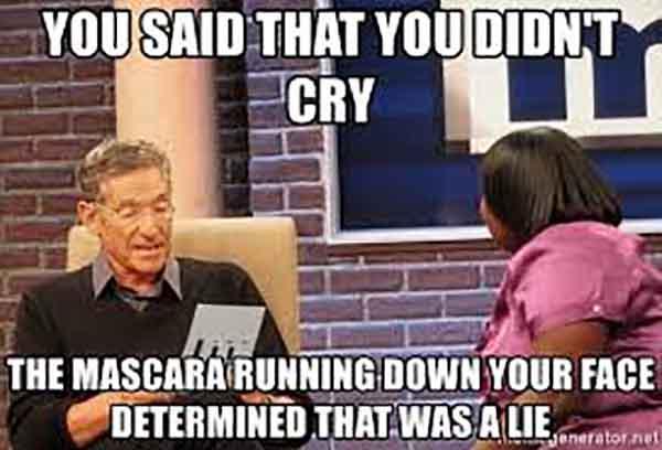 running mascara meme