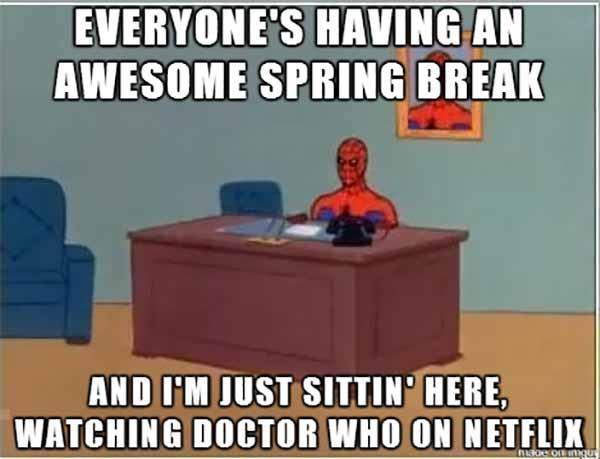 spiderman lonely meme