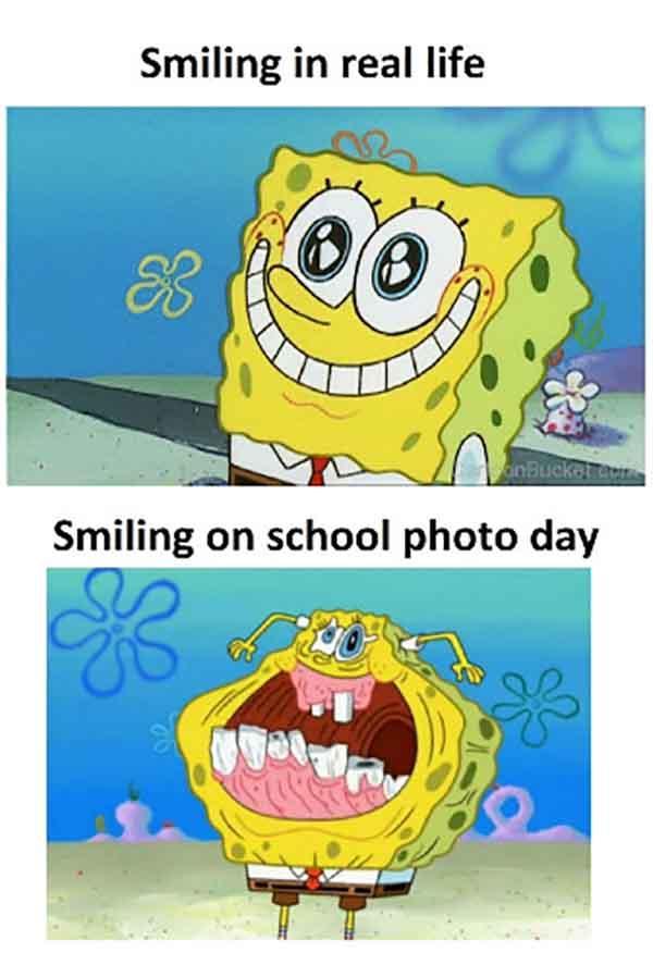 spongebob smile meme