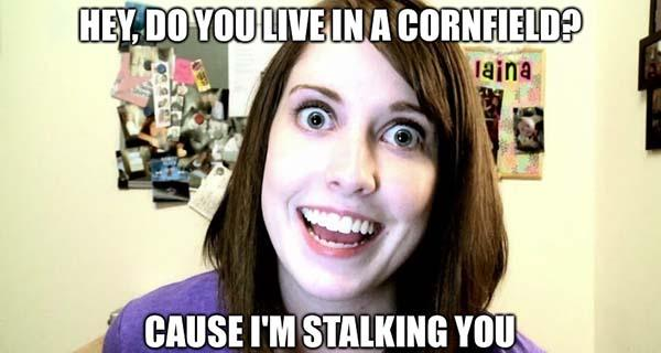 stalker girlfriend meme