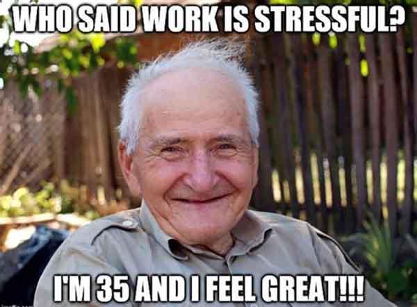 stress at work meme