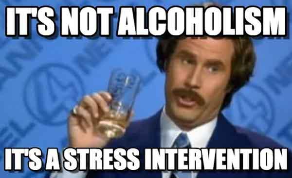 stress drinking meme