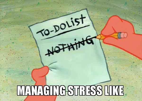 stress management meme