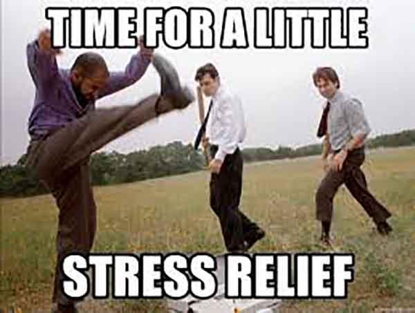 stress relief meme