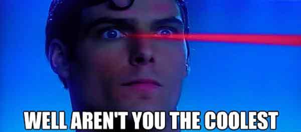 superman laser eyes meme