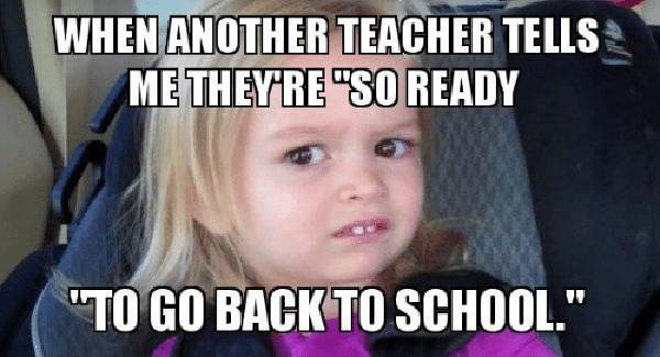 teacher back to school meme