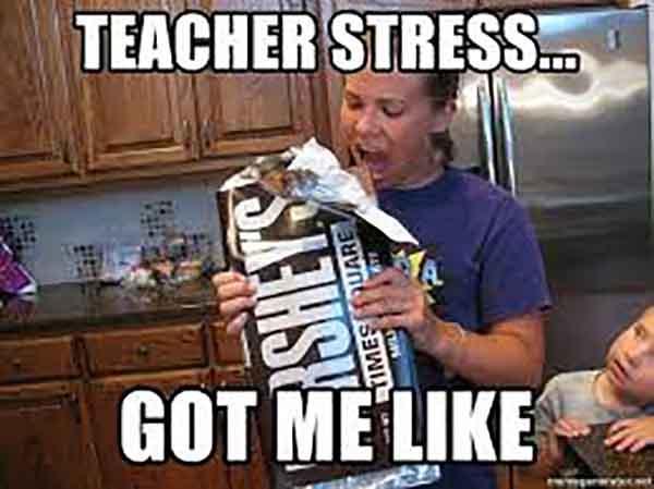 teacher stress meme