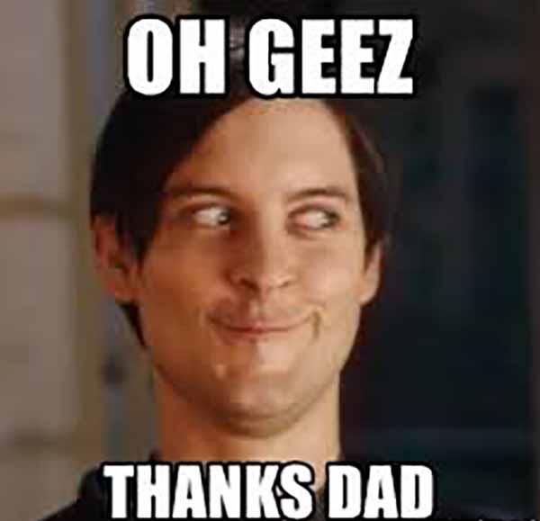 thanks dad meme