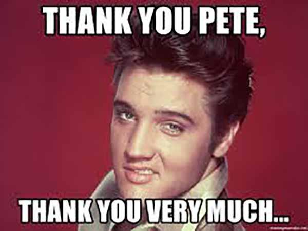 thanks pete meme