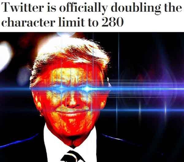trump laser eyes meme
