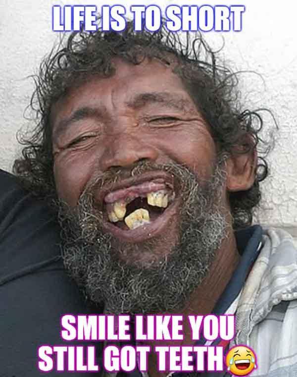 ugly smile meme