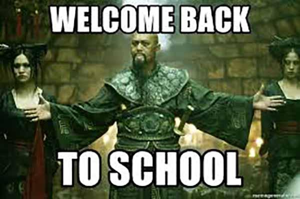 welcome back to school meme