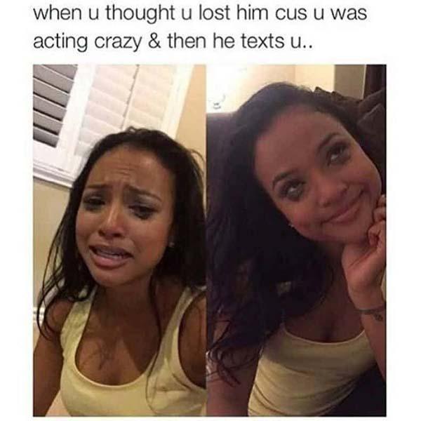 when u thought u lost him - crazy girlfriend meme