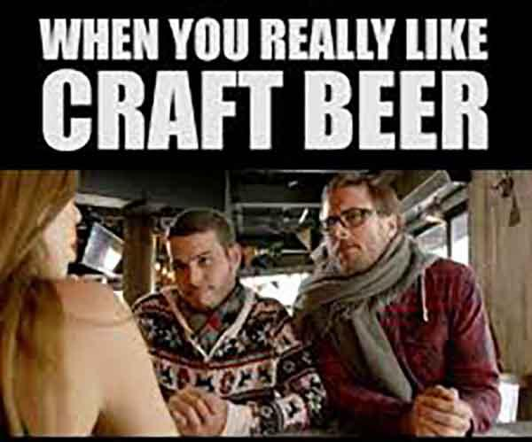 when you really like craft beer