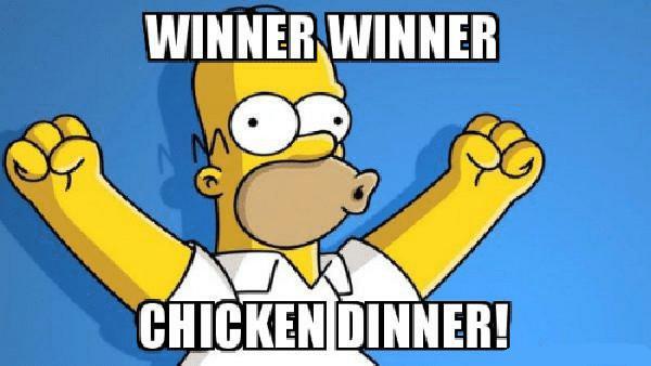 winner winner chicken dinner simpson