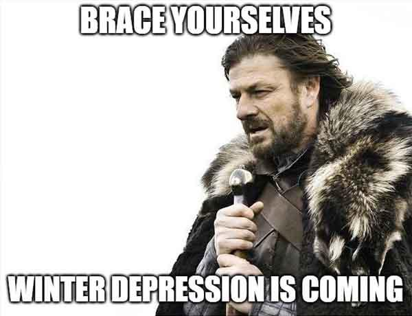 winter depression meme