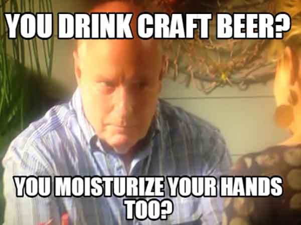 you drink craft beer