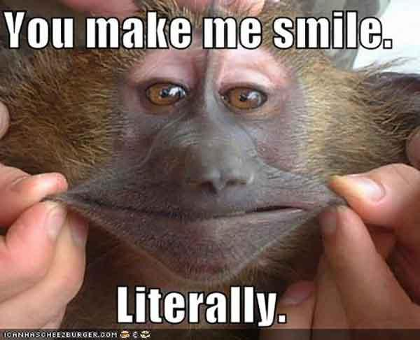 you make me smile, literally