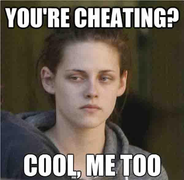 you're cheating cool me too - cheating girlfriend meme