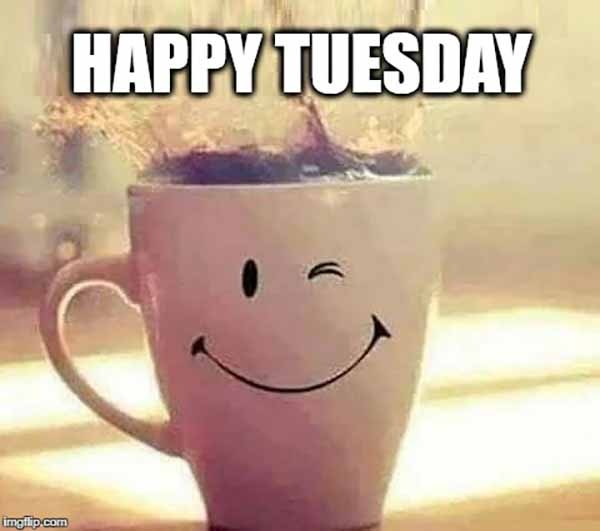 happy tuesday coffee meme
