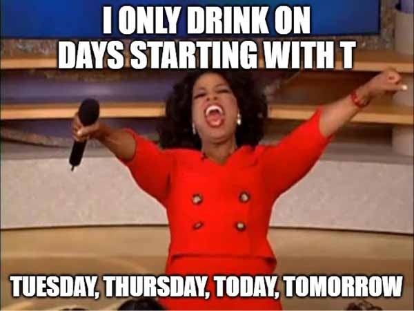 tuesday drinking meme